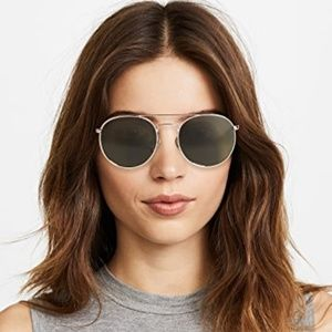 Le Specs Round Aviator Polarized Sunglasses